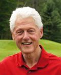 Bill Clinton playing golf at North Hatley Golf Club